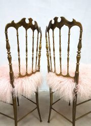 midcentury modern eetkamerstoel sheepskin Chiavari dining chair dinner chair
