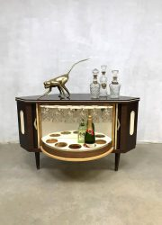 vintage mid century modern retro fifties dranken kast cocktail bar