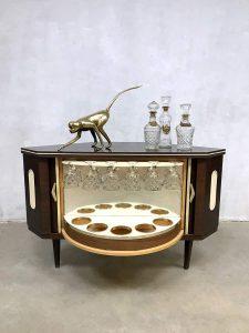 vintage mid century modern fifties retro cabinet dranken kast