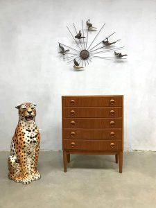 Vintage ladekast chest of drawers cabinet Kai Kristiansen Feldballes Mobelfabrik