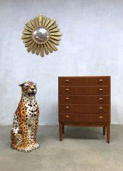 midcentury modern cheetah tiger tijger animal Italian design ceramic