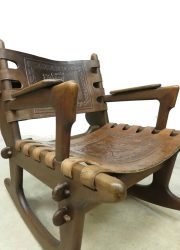 Vintage design Ecuador rocking chair schommelstoel Angel Pazmino