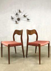 vintage dining chairs J.L. Møller Møbelfabrik Danish design eetkemerstoel