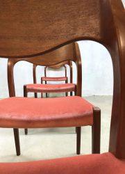 mid century modern dining chairs eetkamerstoelen Danish design Hans o Moller