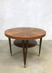 vintage coffee table salontafel Deens design brass details