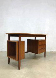 vintage retro bureau buro writing office desk Danish style Deense stijl