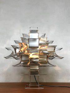 Midcentury modern Cassiopée table lamp tafellamp vintage design Max Sauze