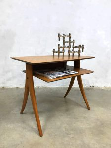 Danish vintage side table magazine table coffee table bijzettafel Deens