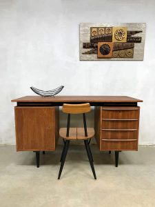 Vintage Dutch design writing desk bureau Cees Braakman Pastoe