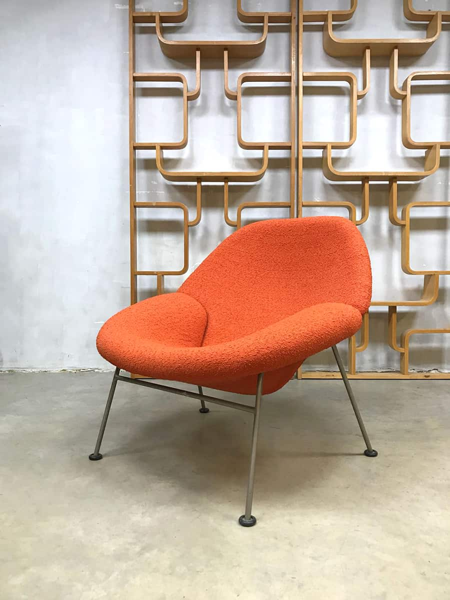 vintage design lounge chair fauteuil f555 pierre paulin. Black Bedroom Furniture Sets. Home Design Ideas
