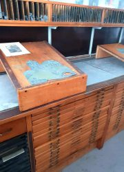 vintage Industrial chest of drawers antique counter