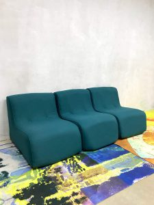 Vintage kids lounge bankje game bank sixties kids sofa 'minimalism'