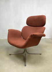 vintage lounge fauteuil Artifort big Tulip F545 armchair dutch design