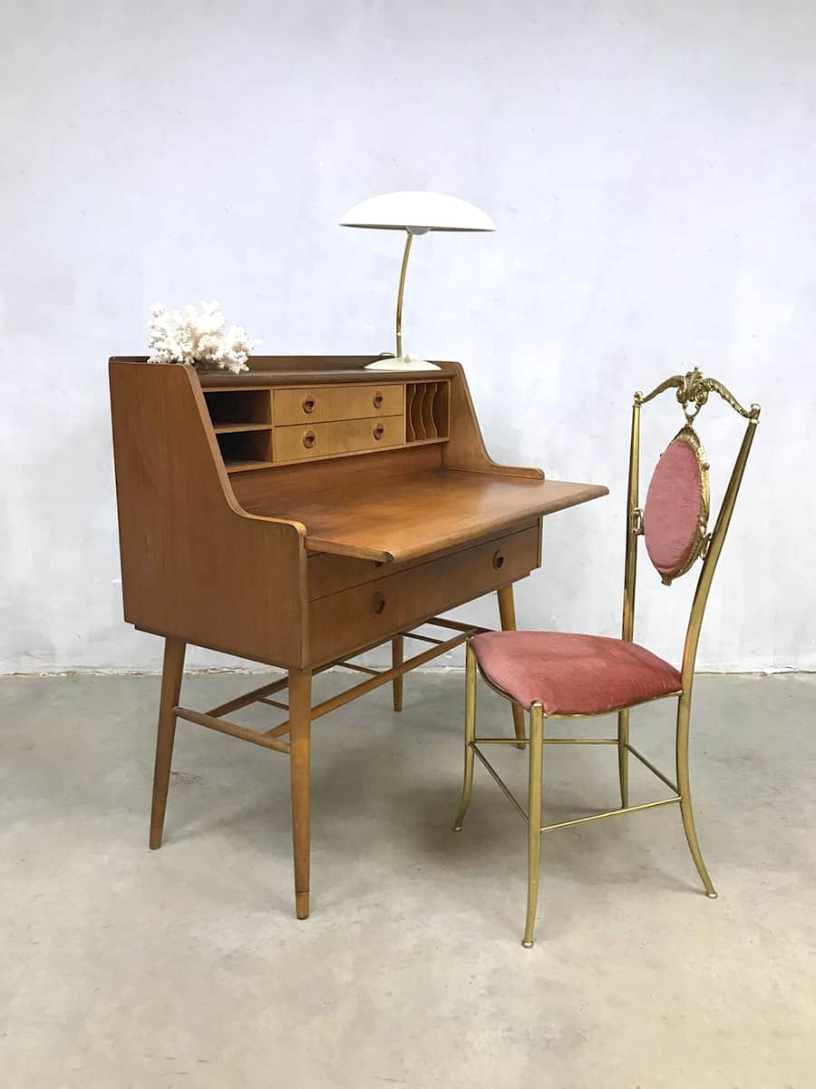 swedish vintage design bureau secretaire midcentury modern desk. Black Bedroom Furniture Sets. Home Design Ideas