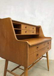 vintage midcentury modern desk sideboard bureau secretaire Danish design 4