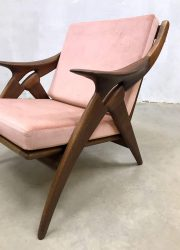 vintage Dutch design armchair fauteuil de knoop Gelder de Ster