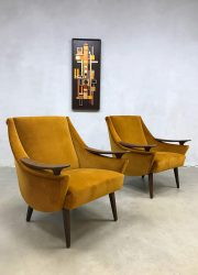 vintage arm chairs club chairs velvet gold suede midcentury modern