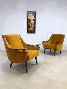 Midcentury modern velvet armchairs lounge fauteuils 'pure luxury'