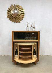 Art deco midcentury modern liquor cabinet trunk vintage dranken kast