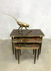 Vintage design mimiset nesting tables bijzettafeltjes 'Pop-Art'