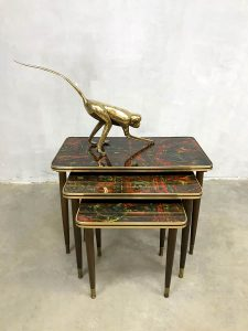 Vintage design mimiset nesting tables bijzettafeltjes 'Pop-Art'