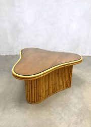 bamboo midcentury modern vintage design coffee table side table salontafel bijzettafel bamboe