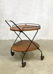 vintage theewagen dranken trolley Danish barcart serving trolley Scandinavian