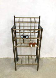 vintage drankenrek drank plateau wijnrek retro design