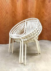 vintage wire chair metal industrial tuinstoel draadstoelen
