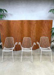 vintage draadstoel wire chair garden set tuin stoel midcentury modern Erlau