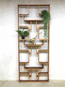 Vintage design wall unit Ludvik Volak room divider Drevopodnik Holesov