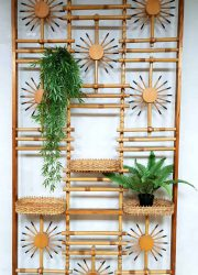 vintage design room divider kamerscherm tropical design bamboe bamboo fifties sixties jaren 50 60