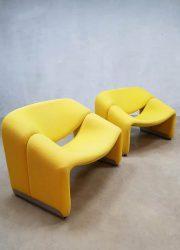 vintage design chair F598 groovy chair Pierre Paulin Artifort relax fauteuil jaren 70 80