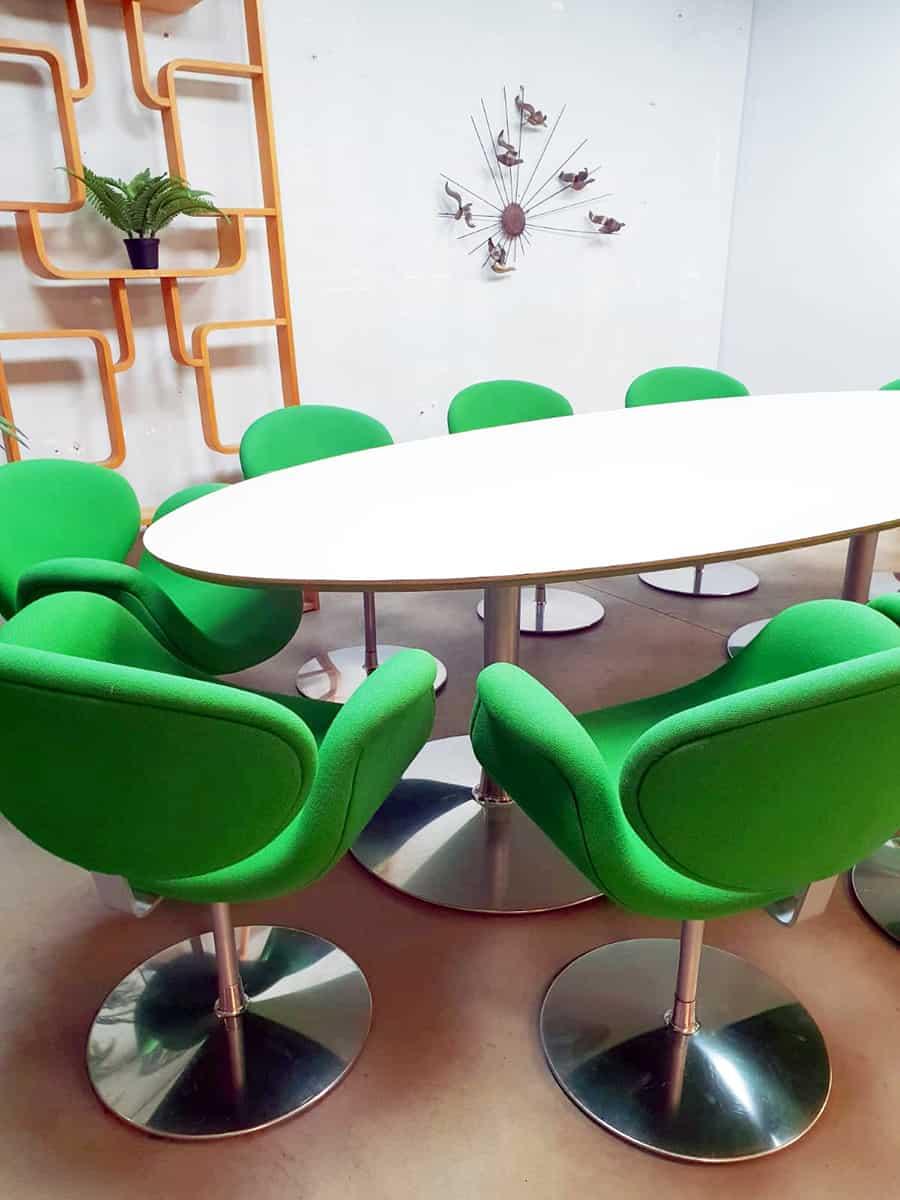 Artifort Design Salontafel.Vintage Dutch Design Dinner Set Small Tulip Chair Table Artifort