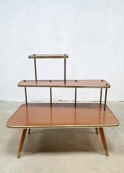 fifties sixties plant stand side table retro plantentafeltje