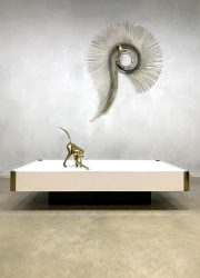 vintage design brass coffee table Italian design Willy Rizzo Mario Sabot