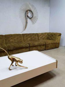 vintage modular lounge sofa midcentury modern green Laauser Germany