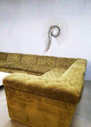 Midcentury modern modular sofa modulaire vintage design bank Laauser XXL