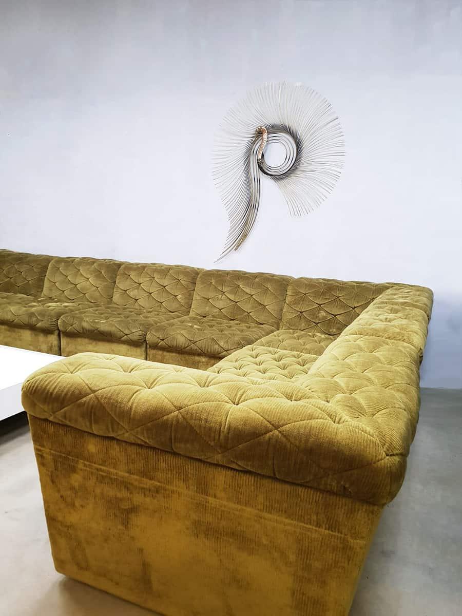 Midcentury Modern Modular Sofa Modulaire Vintage Design