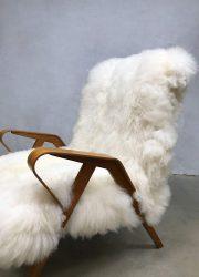 midcentury modern Sheepskin arm chair Scandinavian living schapen fauteuil teddy