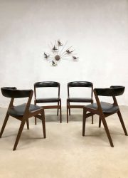 Vintage Danish design dining chairs Deense eetkamerstoelen