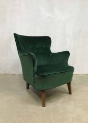 Vintage design armchair wingback chair lounge fauteuil Theo Ruth Artifort