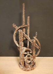 Vintage brutalist sculpture object art decoration kunst object