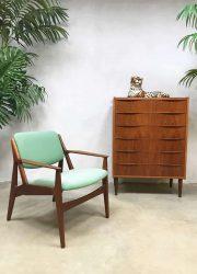 Vintage Danish design 'ellen' armchair lounge fauteuil Arne Vodder
