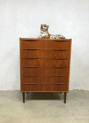 Deense vintage design ladekast Danish chest of drawers Scandinavian