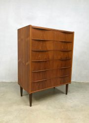 vintage midcentury modern cabinet Scandinavian Danish chest of drawers ladekast Deens
