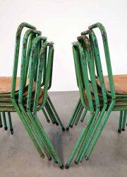 vintage stapelbare stoel stoelen industrieel Tubax chairs