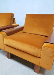 vintage design arm chairs midcentury modern lounge fauteuils stoelen