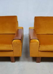 midcentury modern luxury chairs gold yellow velvet