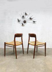 midcentury modern dining chairs Niels O Møller eetkamerstoelen No 75